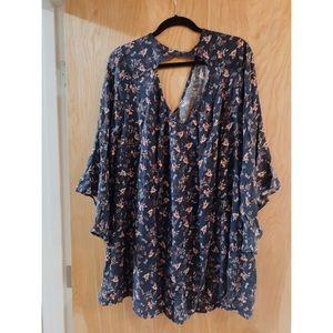 Lush floral flowy dress